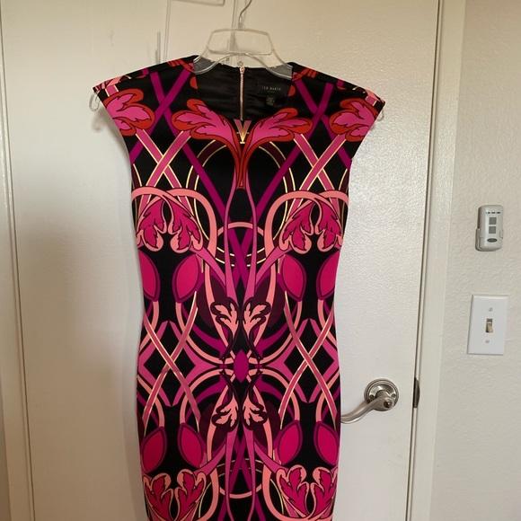 Ted Baker London Dresses & Skirts - Ted Baker Midi art novu design.